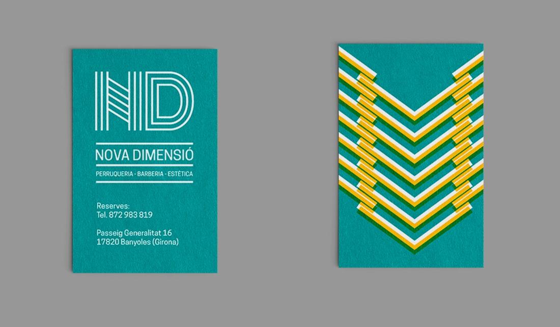 imatge corporativa logo targetes desplegable de tarifes retolació vinils decoratius perruqueria