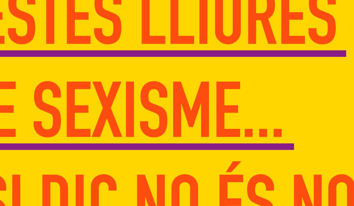 la dalla col·lectiu feminista de la garrotxa. cartell de campanya conscienciadora contra el sexisme i els abusos. festes del tura olot 2015